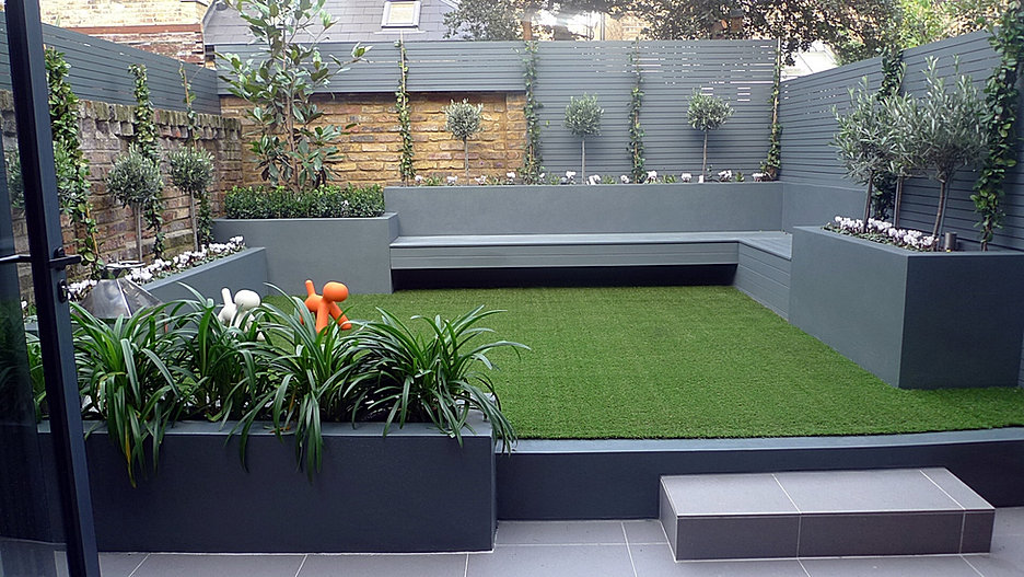Modern garden design greater london anewgarden for Modern garden decking designs