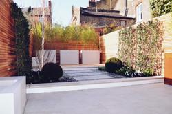 Garden builders Anewgarden Modern contemporary style London porcelain paving