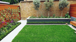 raised beds with york stone coping hardw