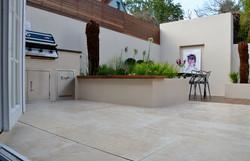 modern garden design outdoor room with kitchen seating  balham clapham