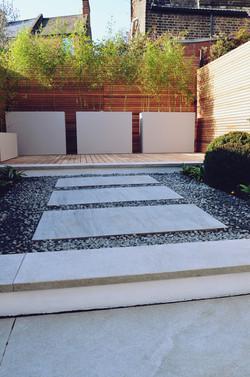 Garden builders Anewgarden Modern contemporary style London basalt cedar screen
