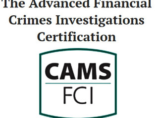 Congratulations to Kent Stern for achieving the Certified Advanced Financial Crimes Investigations S