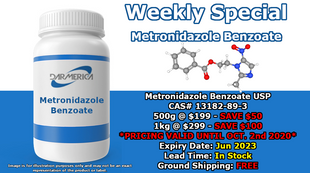 Metronidazole Benzoate Flash Sale!  (Click image for details.)