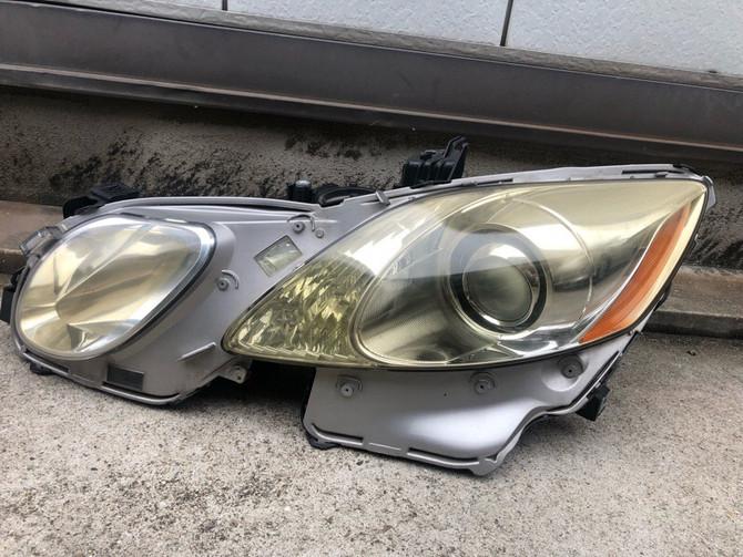 レクサス GS ヘッドライト 黄ばみ取り クラック除去