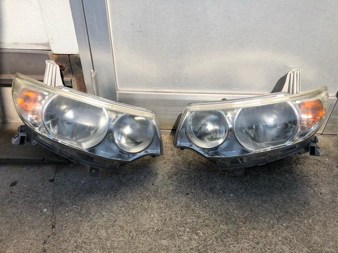 L375S タントカスタム ヘッドライト 黄ばみ除去