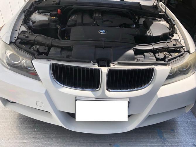 E90 BMW 3シリーズMスポーツ ヘッドライト 黄ばみ除去