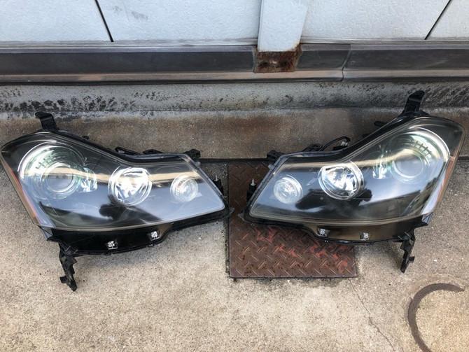 Y50 フーガ GT ヘッドライト黄ばみ除去