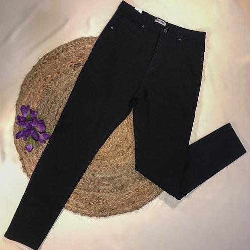 HighWaisted Black Skinny Jeans -Plus Size