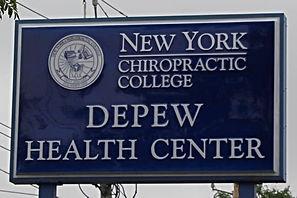 Depew Health Center Sign