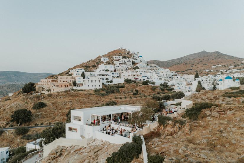 Ios Greece view of wedding