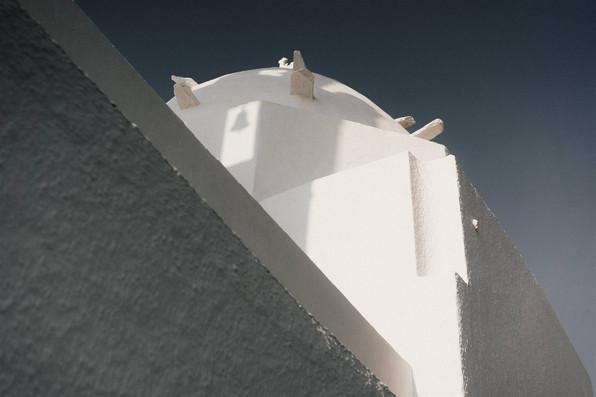 Ios, Greece village walls