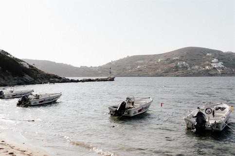 Boats on Ios Beach