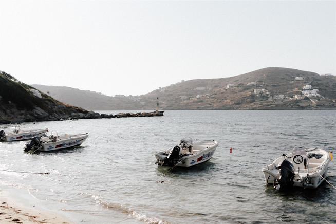 Boats on Ios Beach