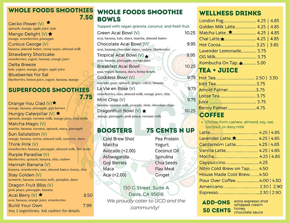updated menu 2