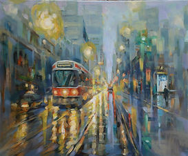 12. Evening in Downtown Toronto (16x20).