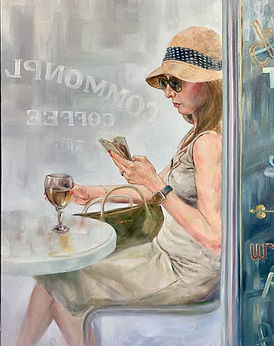4 reading and drinking (24x30) Oil.jpg
