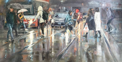 9 Cress the street (24x48) Oil.jpg