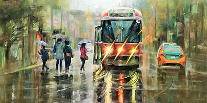 10 Street car on Bathurst (24x48) Oil.jp