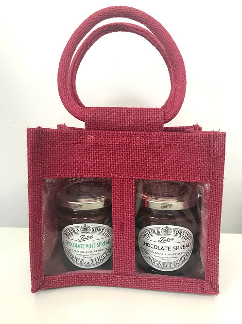 Tiptree Gift Bag x 2 Chocolate Spreads