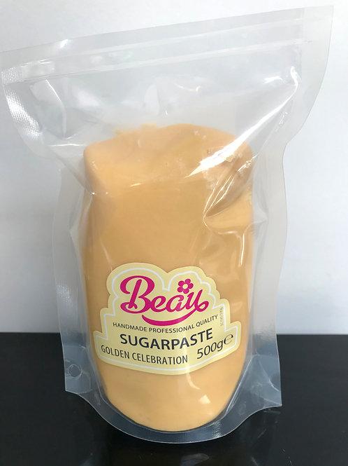 Beau Sugarpaste Fondant Icing 500g - Golden Celebration