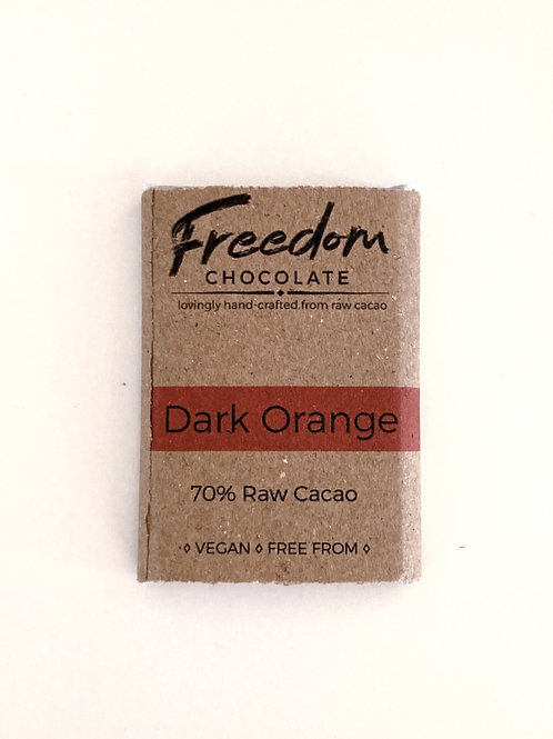 Freedom Chocolate Dark Orange Mini Bar - 30g