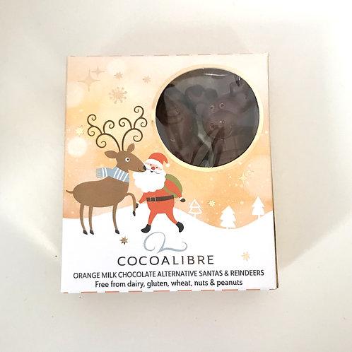 Cocoa Libre Chocolate Orange Santa & Reindeers