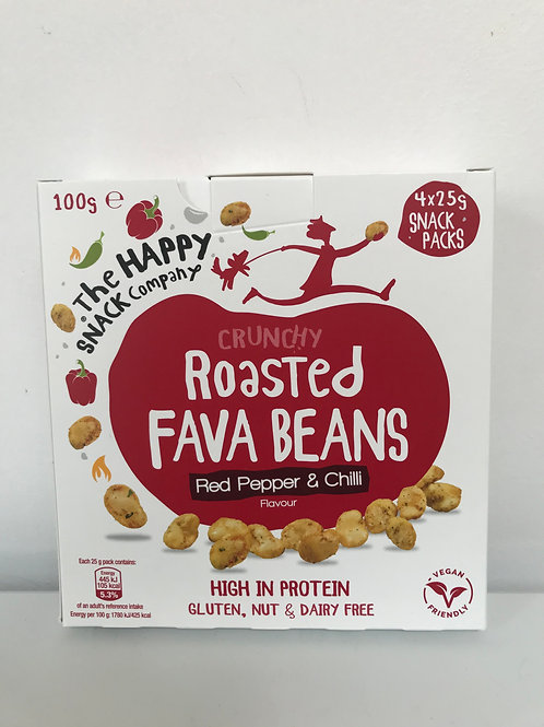 The Happy Snack Company Red Pepper & Chilli Fava Beans