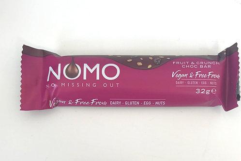 NOMO Fruit & Crunch Chocolate Bar