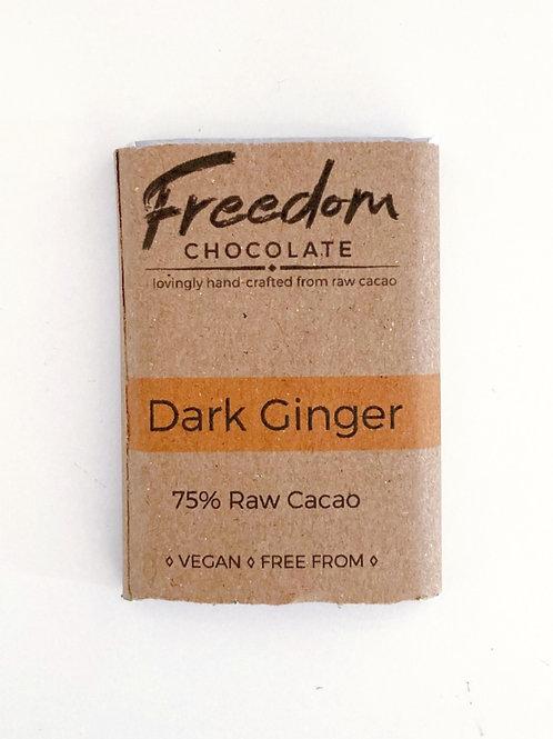 Freedom Chocolate Dark Ginger Mini Bar- 30g