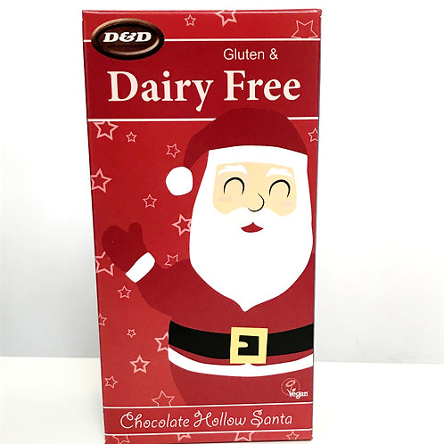 D & D Hollow Chocolate Father Christmas - 75g