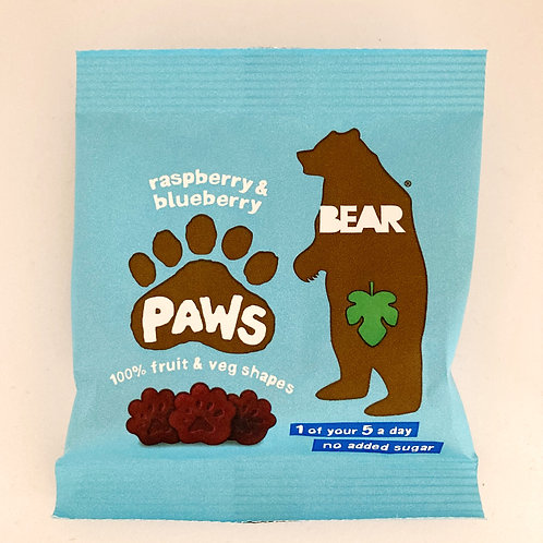 Bear Raspberry & Blueberry Paws - 20g