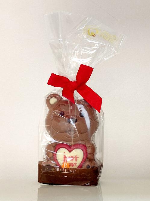 Belfine Valentines Chocolate Love Bear Teddy  Gift - 75g