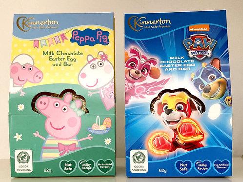 Kinnerton Peppa Pig & Paw Patrol Easter bundle