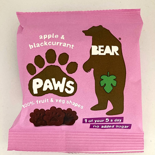 Bear Apple & Blackcurrant Paws - 20g