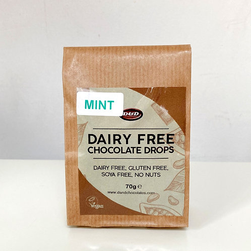 D & D Dairy Free Chocolate Mint Drops - 70g
