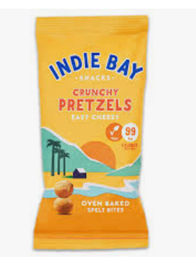 Indie Bay Crunchy Easy Cheesy Spelt Pretzels