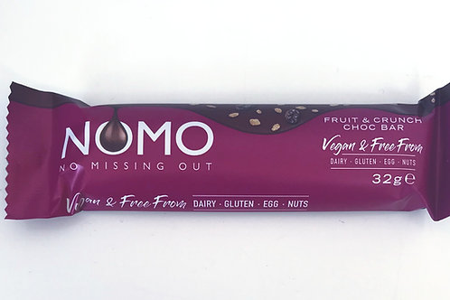 NOMO Fruit & Crunch Chocolate Bar