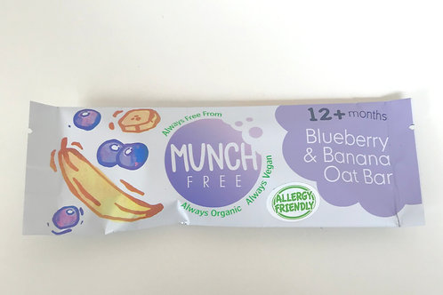 Munch Free Blueberry & Banana Oat Bar