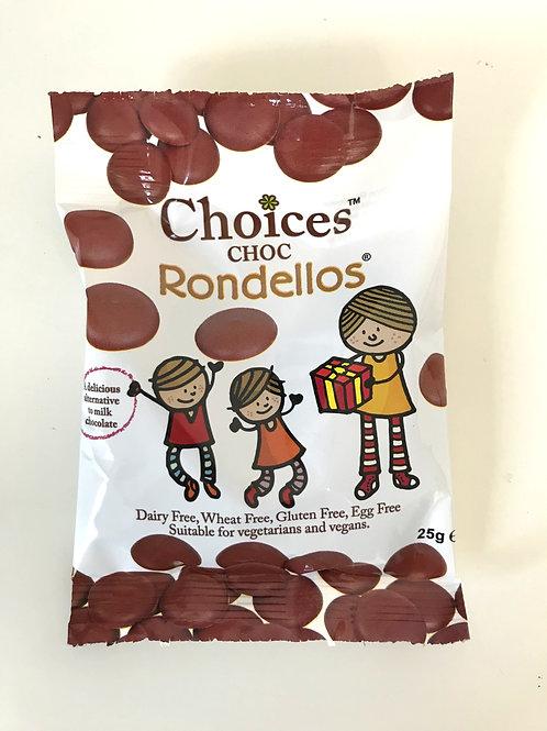 Choices Chocolate Rondellos - 25g bag