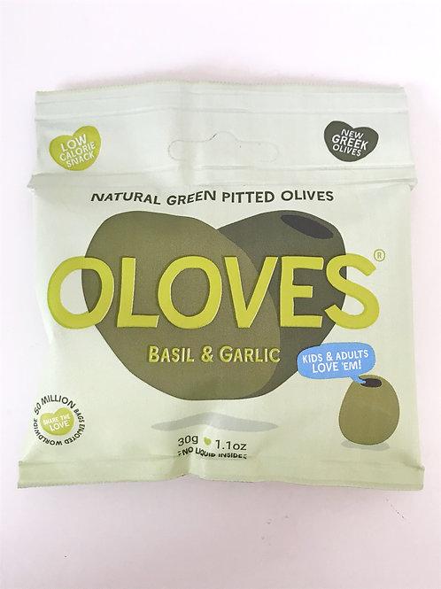 Oloves Basil & Garlic Olives -  30g