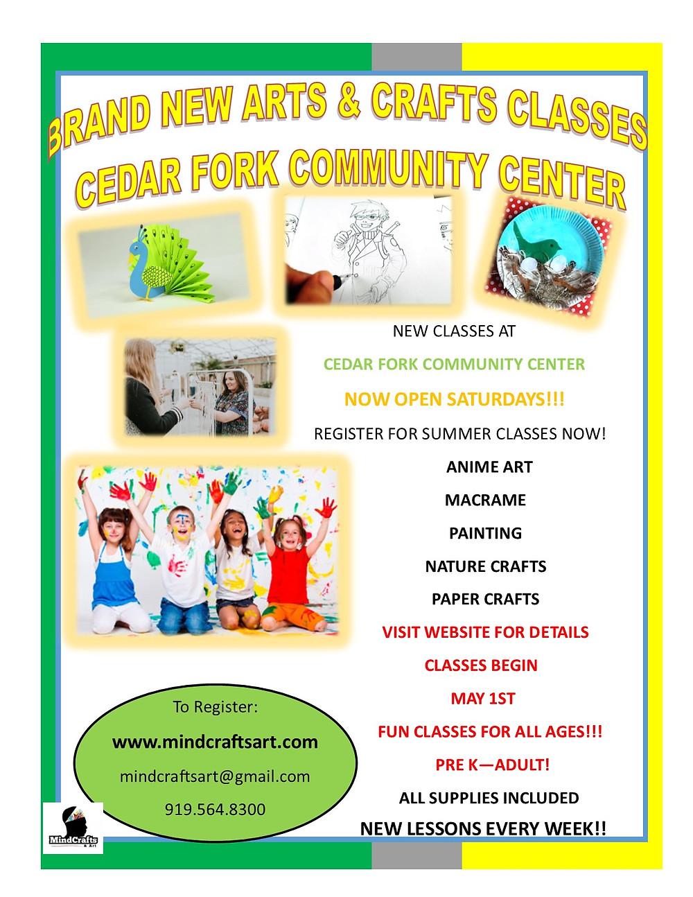 Cedar Fork Community Center Flyer