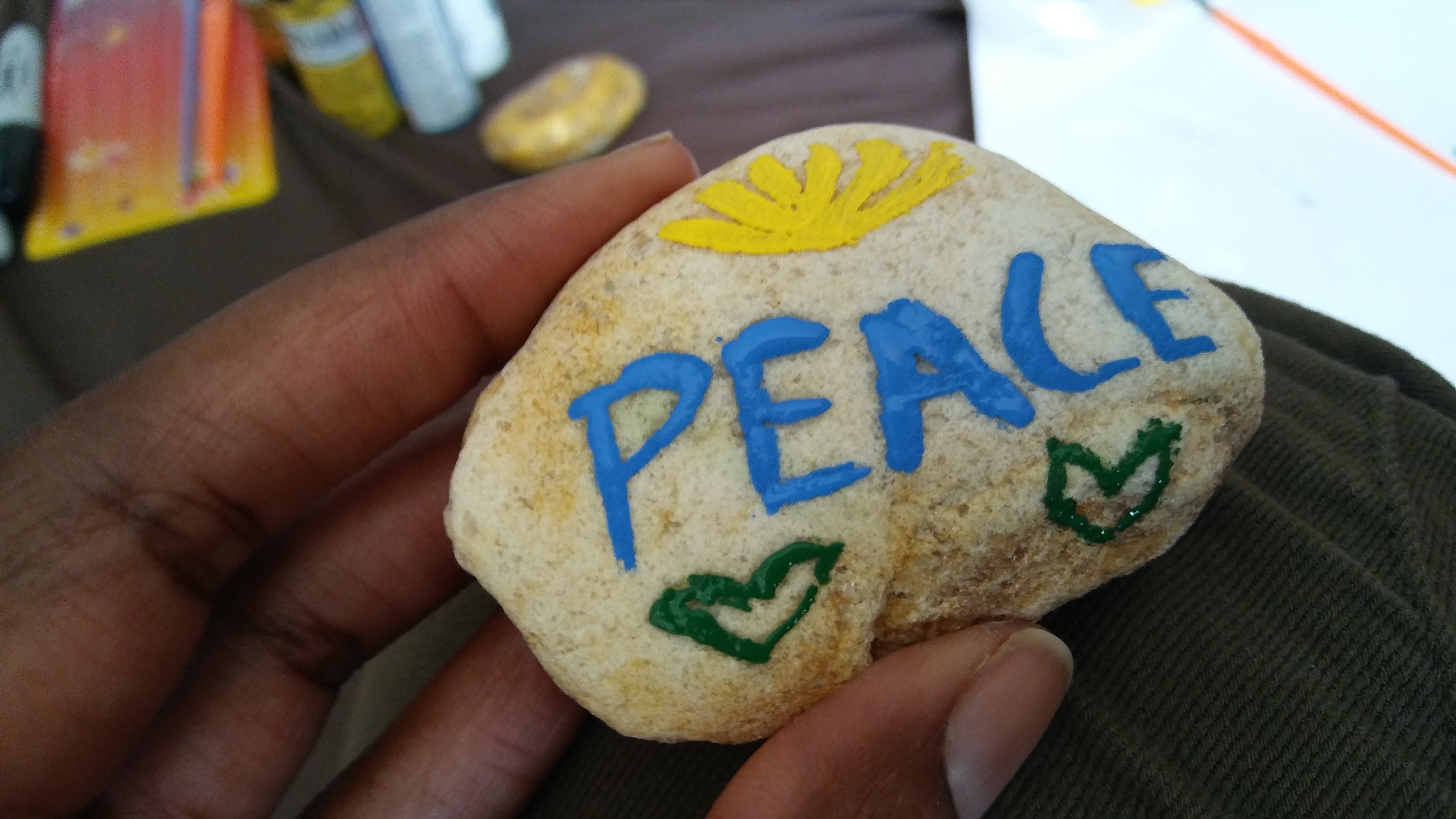Kids Crafts- Painting Stones