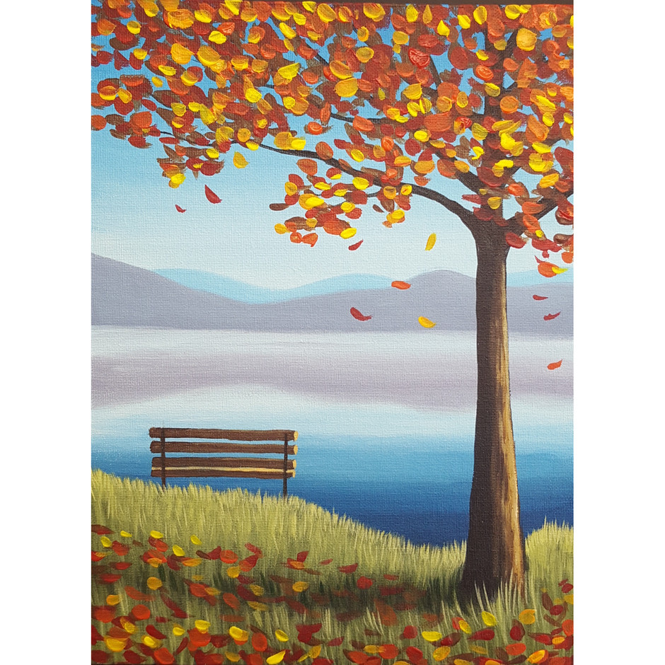 """""""Autumn at the Lake"""" Acrylic Painting Class"""