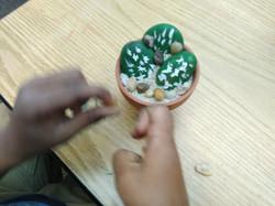 Kids Nature Crafts- Cactus Stones