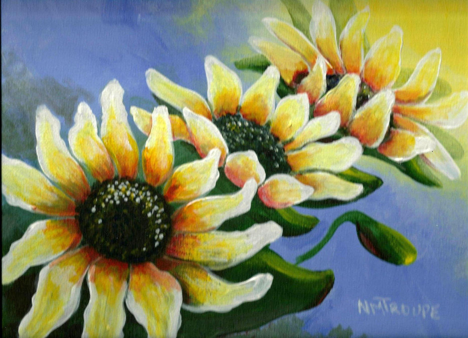 """Acrylic Painting Workshop: """"SunFlowers"""" :) June 7th 4:30-7:00 @ Michaels Craft Store- Cros"""
