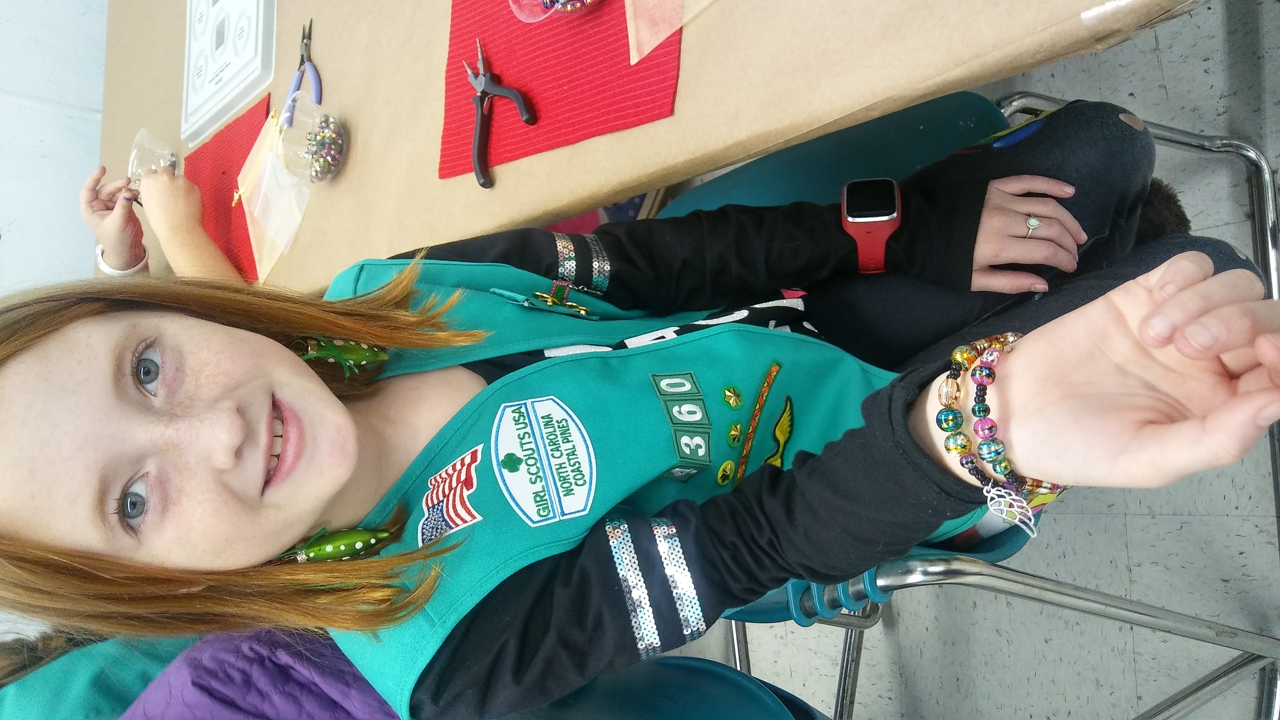 "Girl scout- Coastal Pines ""Christmas Party"" Earn your Jewelry Making Badge"
