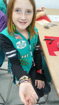"""Girl scout- Coastal Pines """"Christmas Party"""" Earn your Jewelry Making Badge"""