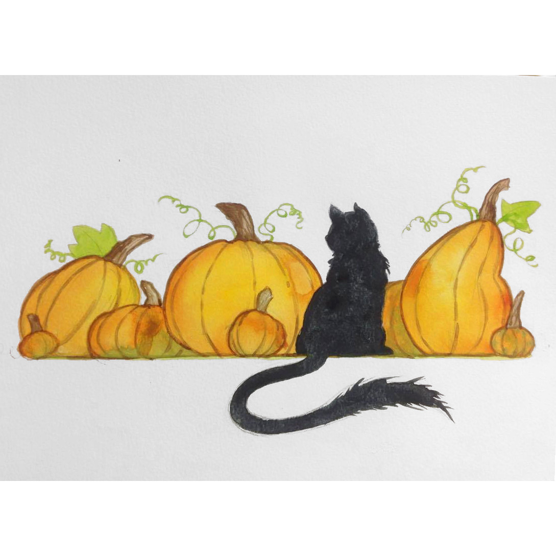 October_Watercolor I Class_Cat Among Pumpkins.jpg