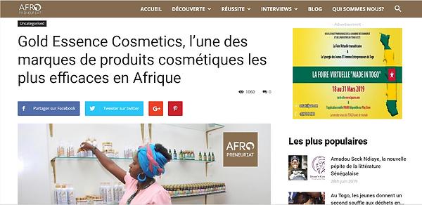 Gold Essence Cosmetics - Afropreneuriat