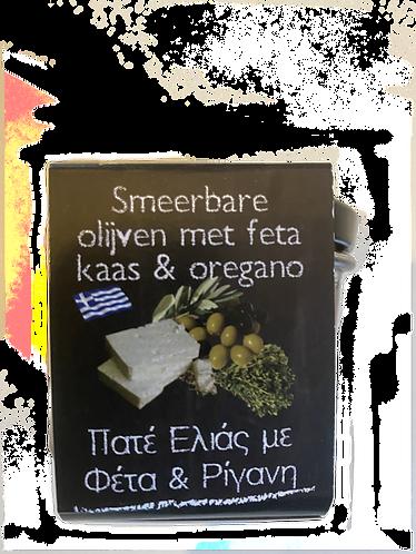 Olivenpaste mit Fetakäse und Oregano